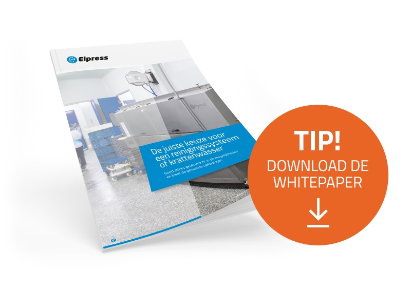Download de whitepaper 'De juiste keuze voor een reinigingssysteem of krattenwasser'.